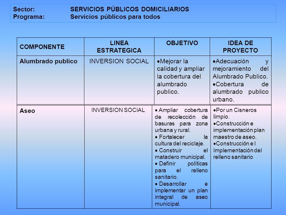 LINEA ESTRATEGICA IDEA DE PROYECTO