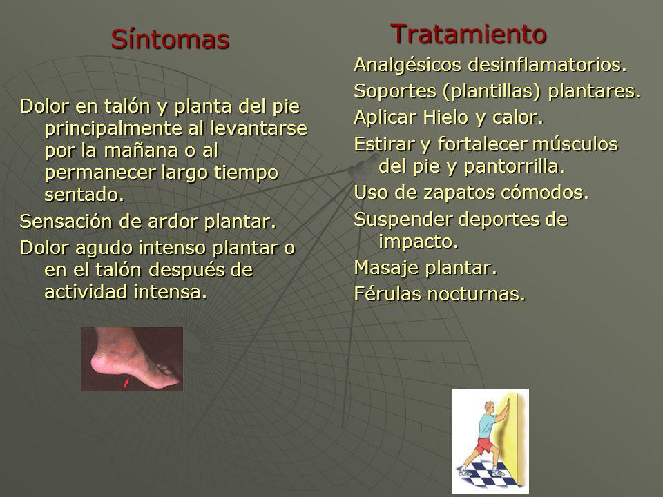 Tratamiento Síntomas Analgésicos desinflamatorios.