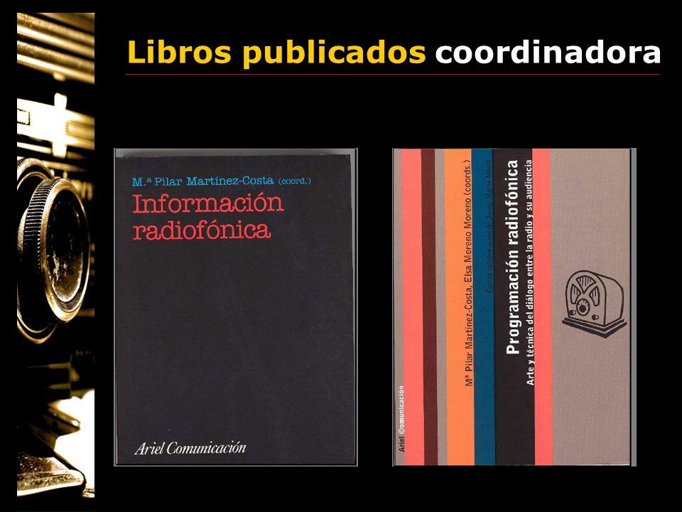 Libros publicados coordinadora