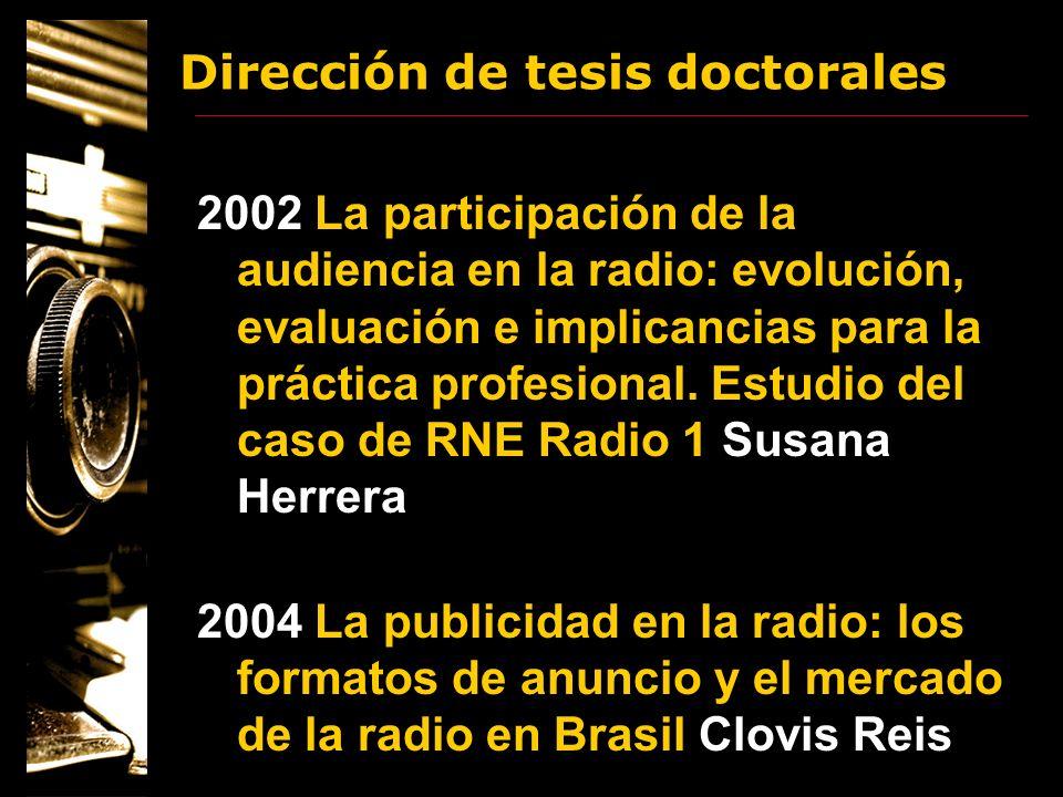Dirección de tesis doctorales