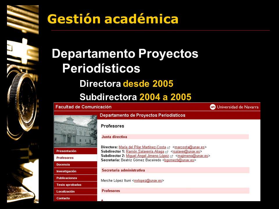 Departamento Proyectos Periodísticos