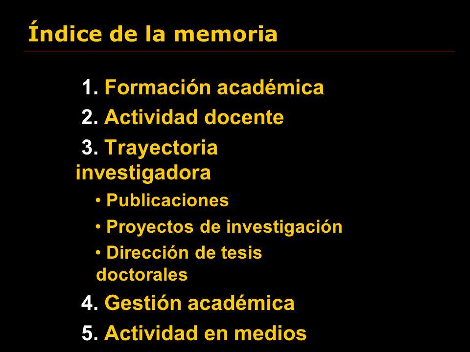 3. Trayectoria investigadora