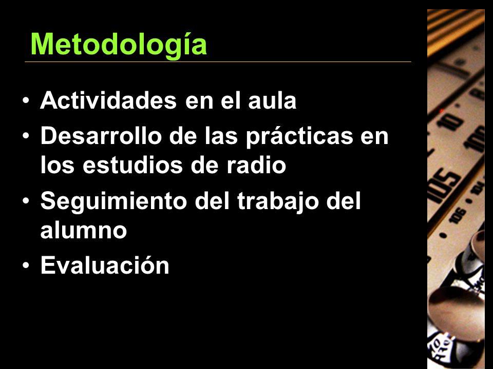 Metodología Actividades en el aula