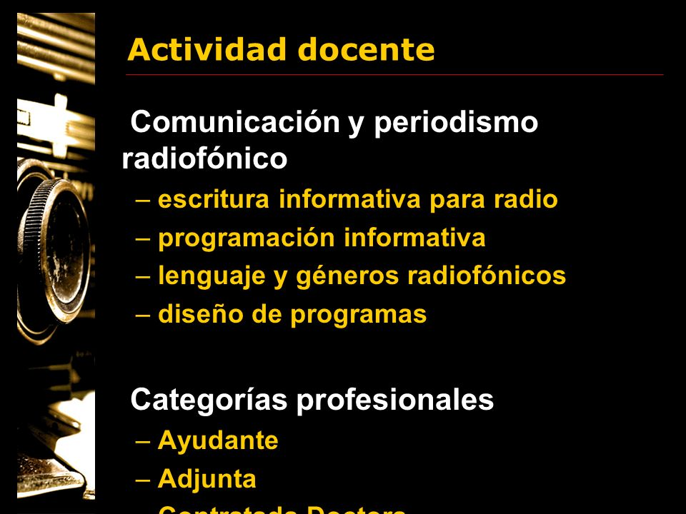 Comunicación y periodismo radiofónico