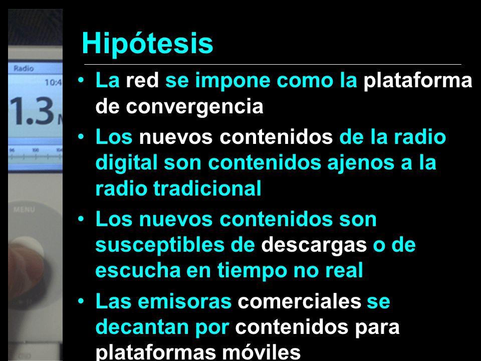 Hipótesis La red se impone como la plataforma de convergencia