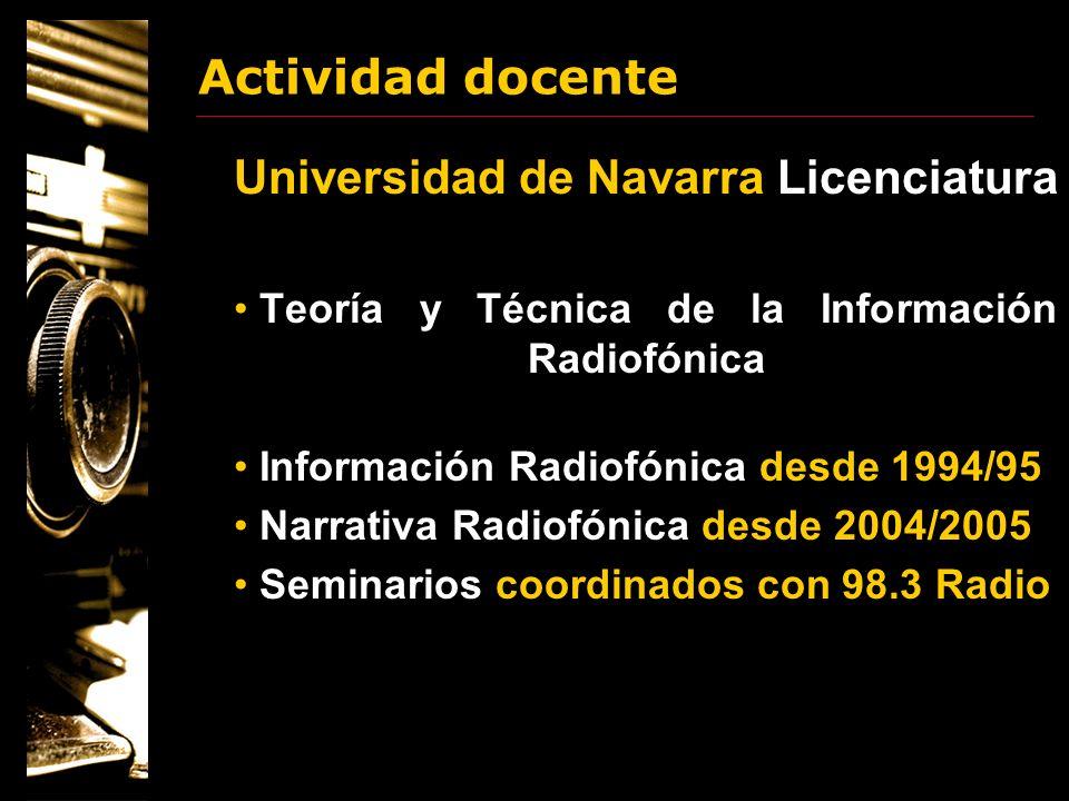 Universidad de Navarra Licenciatura