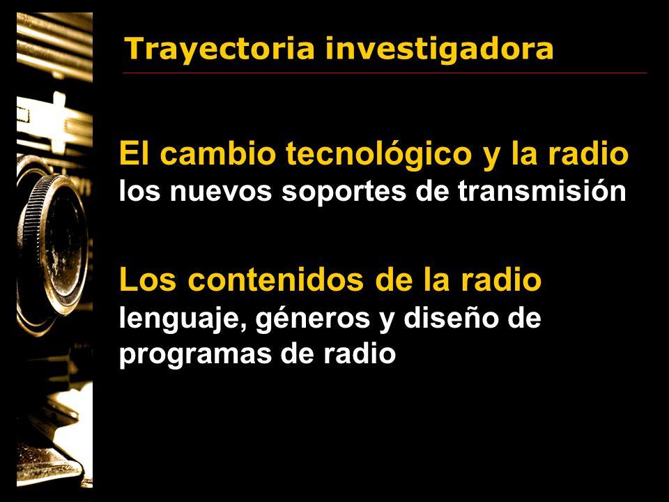 Trayectoria investigadora