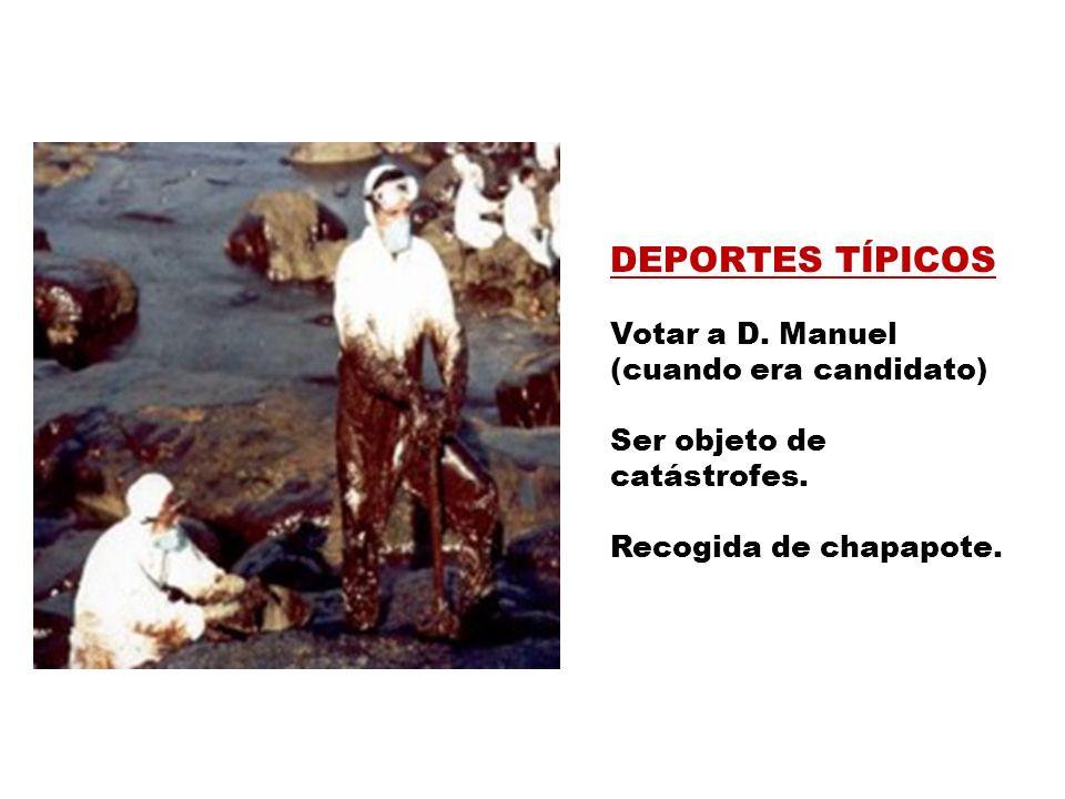 DEPORTES TÍPICOS Votar a D. Manuel (cuando era candidato)