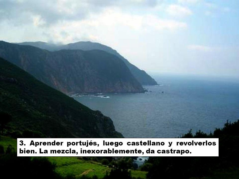 3. Aprender portujés, luego castellano y revolverlos bien