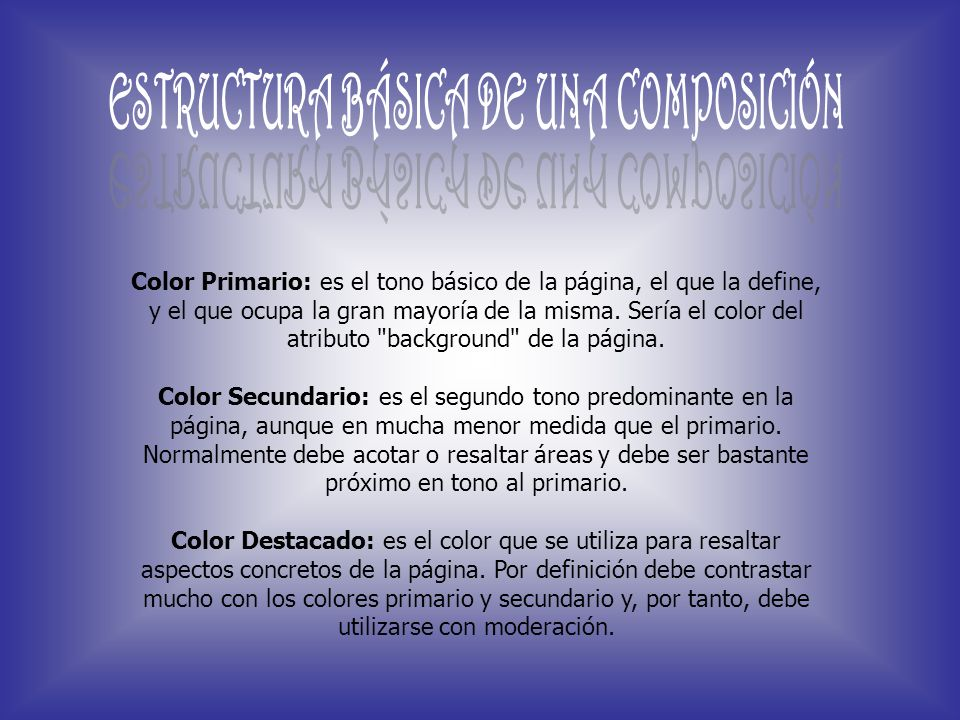 ESTRUCTURA BÁSICA DE UNA COMPOSICIÓN