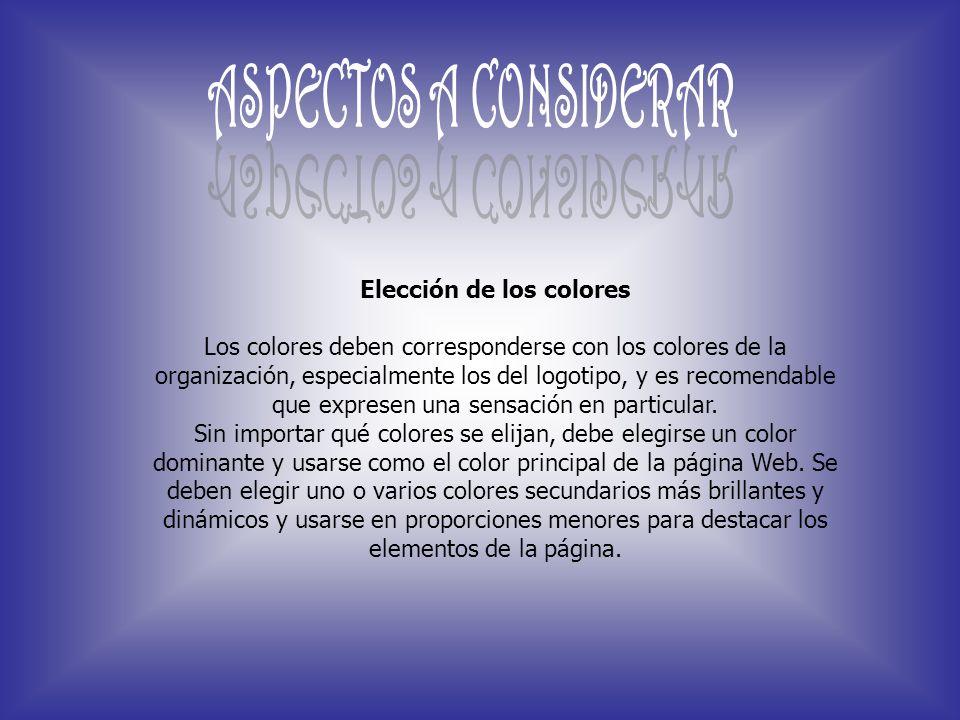 Elección de los colores