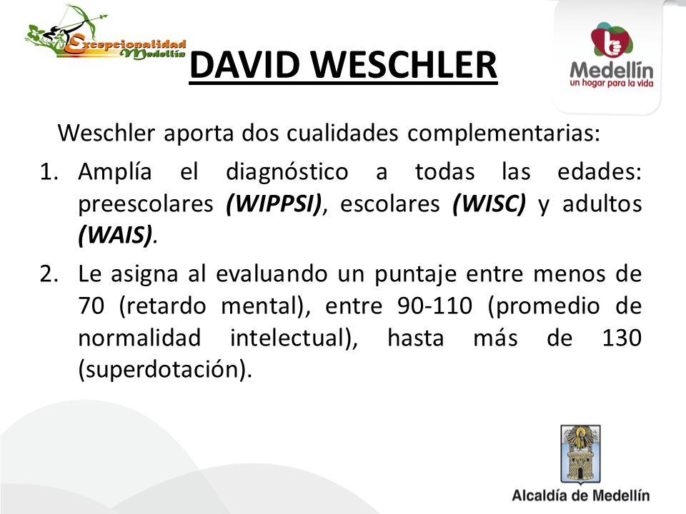 DAVID WESCHLER Weschler aporta dos cualidades complementarias: