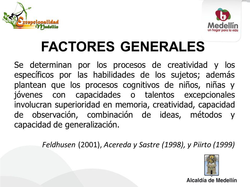 FACTORES GENERALES