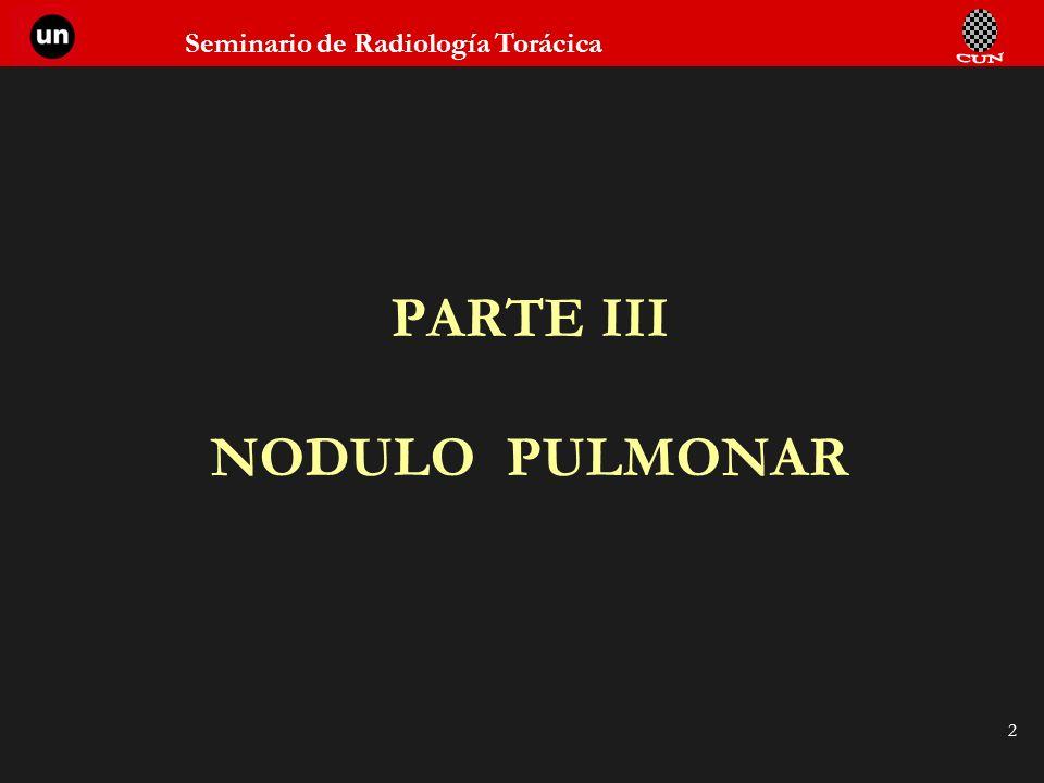 PARTE III NODULO PULMONAR