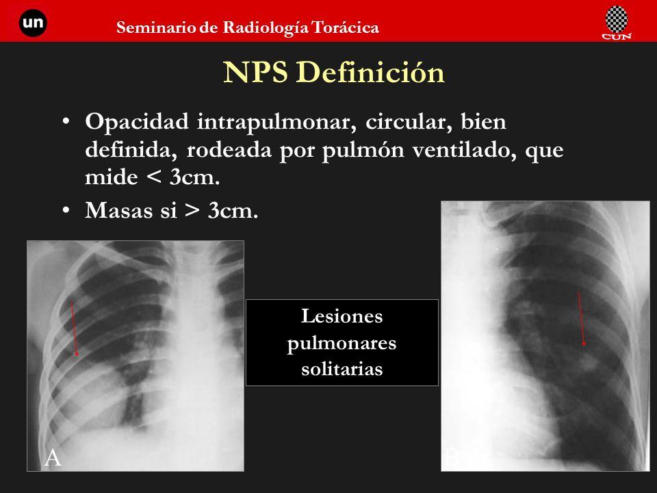 Lesiones pulmonares solitarias