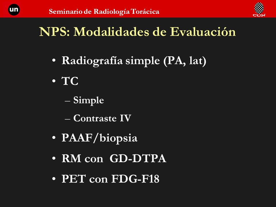 NPS: Modalidades de Evaluación
