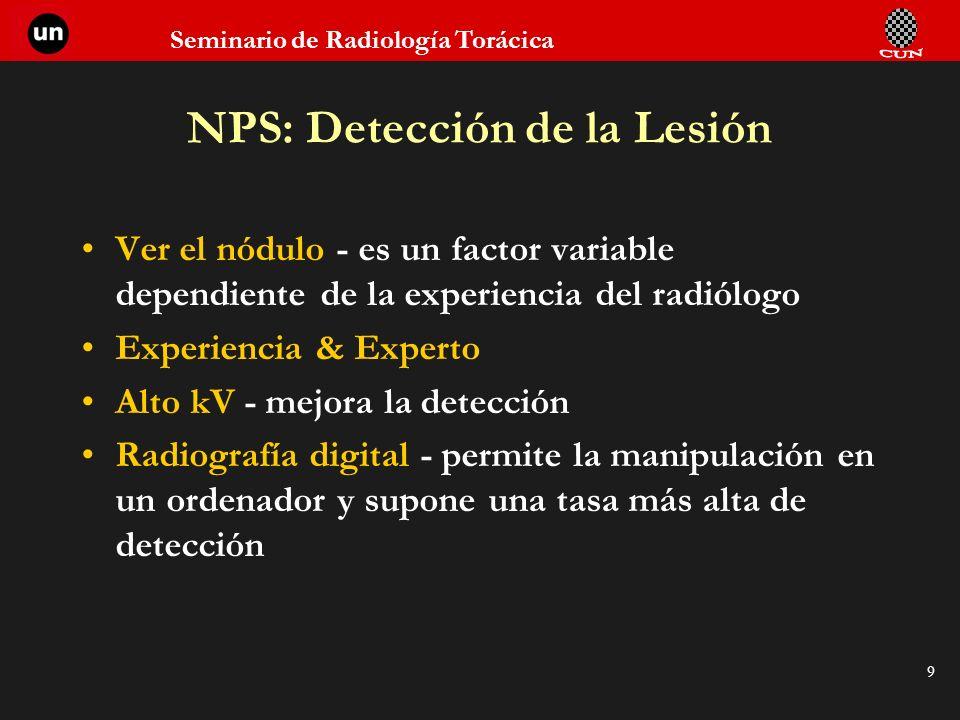 NPS: Detección de la Lesión