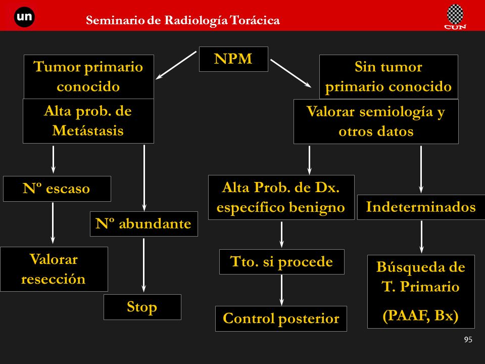 Tumor primario conocido Sin tumor primario conocido