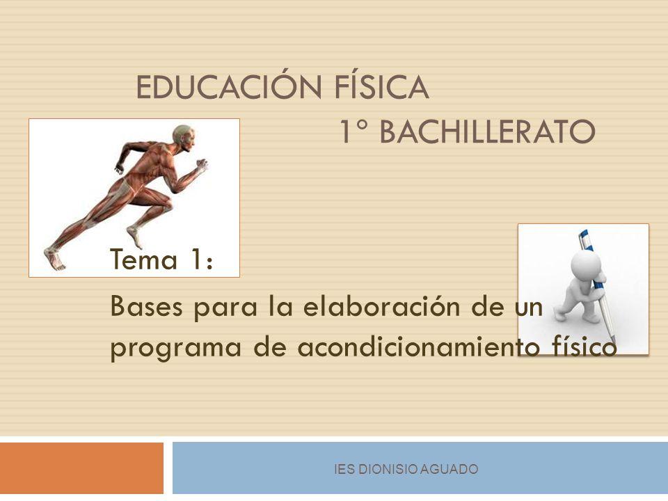 EDUCACIÓN FÍSICA 1º BachILLERAto