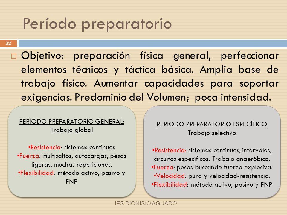 Período preparatorio