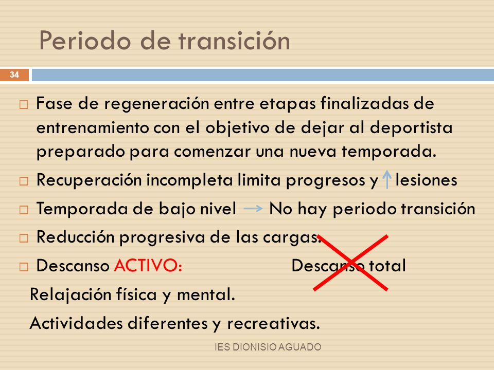 Periodo de transición
