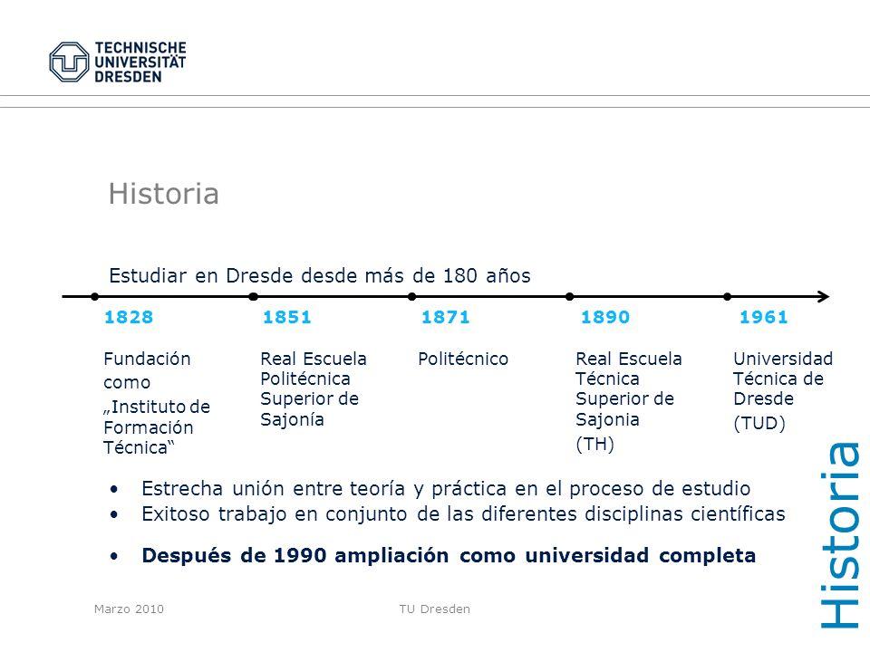 Historia Historia Estudiar en Dresde desde más de 180 años