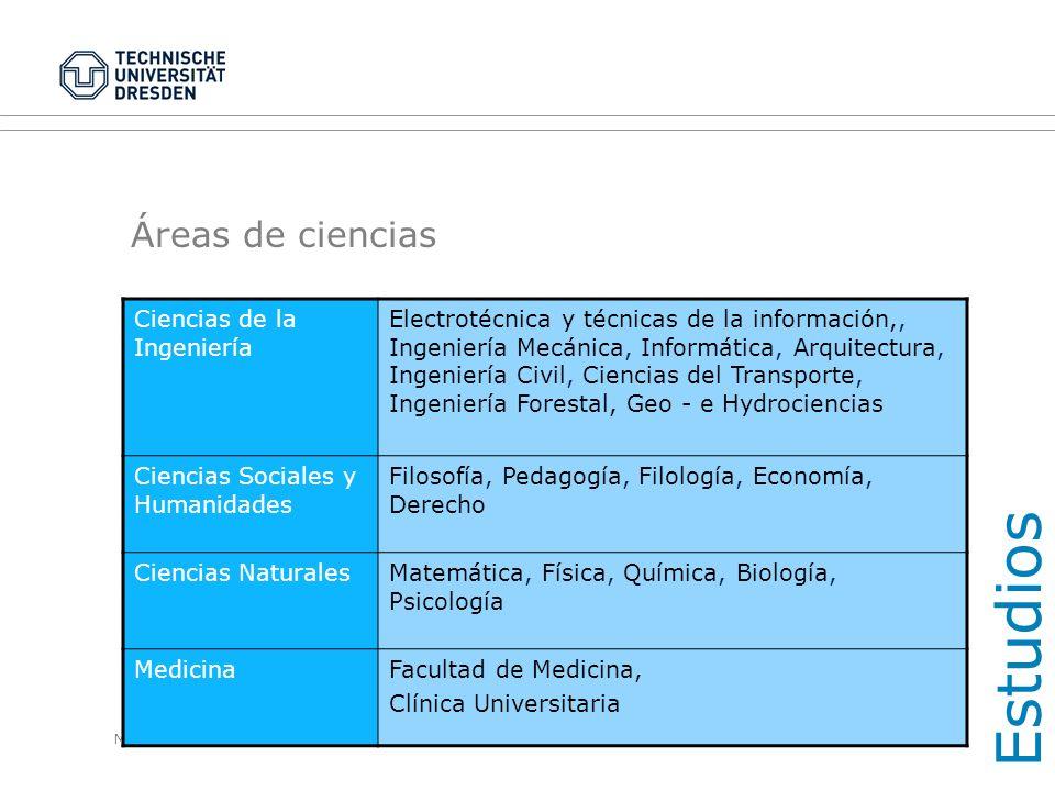 Estudios Áreas de ciencias Ciencias de la Ingeniería