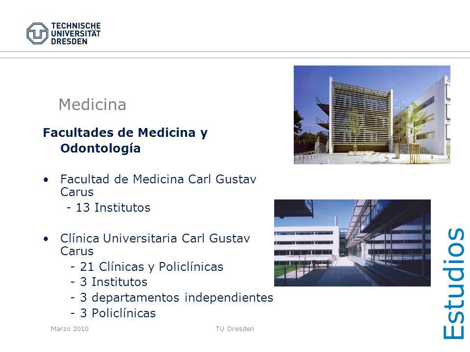 Estudios Medicina Facultades de Medicina y Odontología