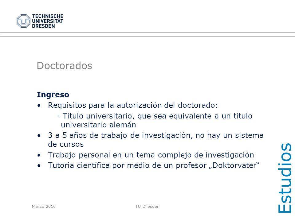 Estudios Doctorados Ingreso