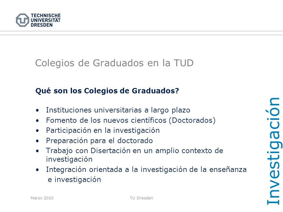 Colegios de Graduados en la TUD