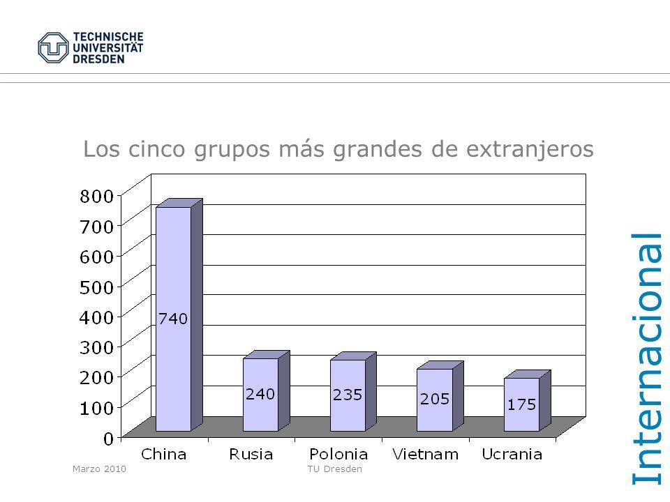 Los cinco grupos más grandes de extranjeros