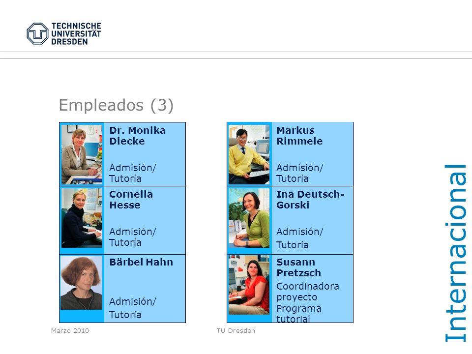 Internacional Empleados (3) Dr. Monika Diecke Admisión/ Tutoría