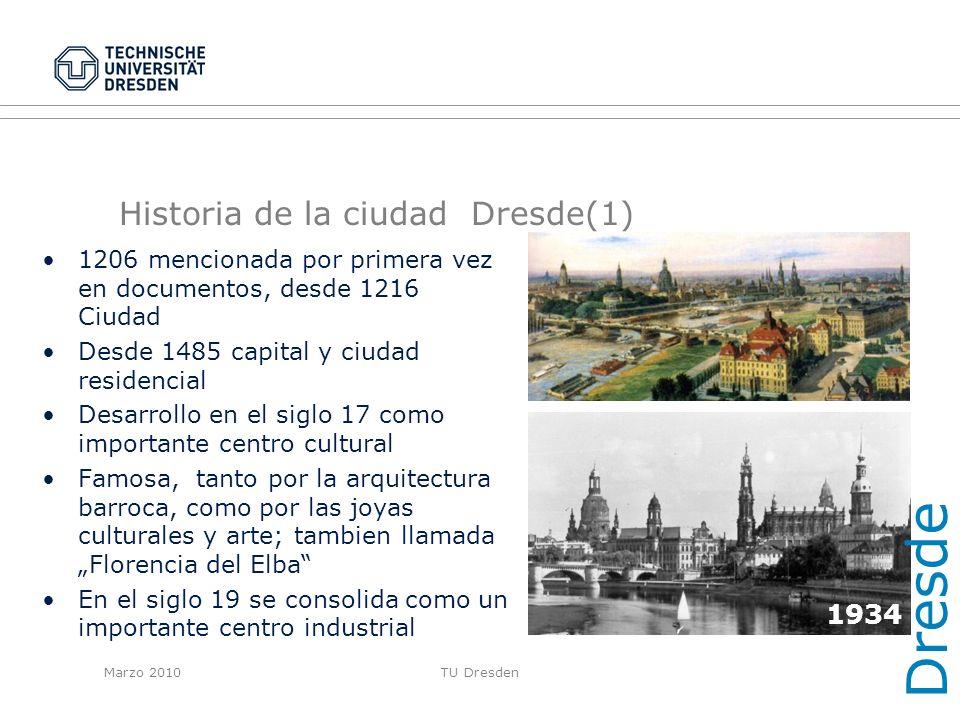 Historia de la ciudad Dresde(1)