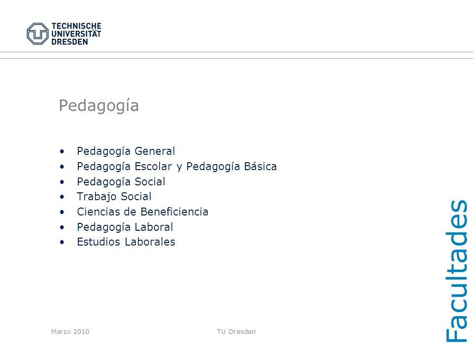 Facultades Pedagogía Pedagogía General