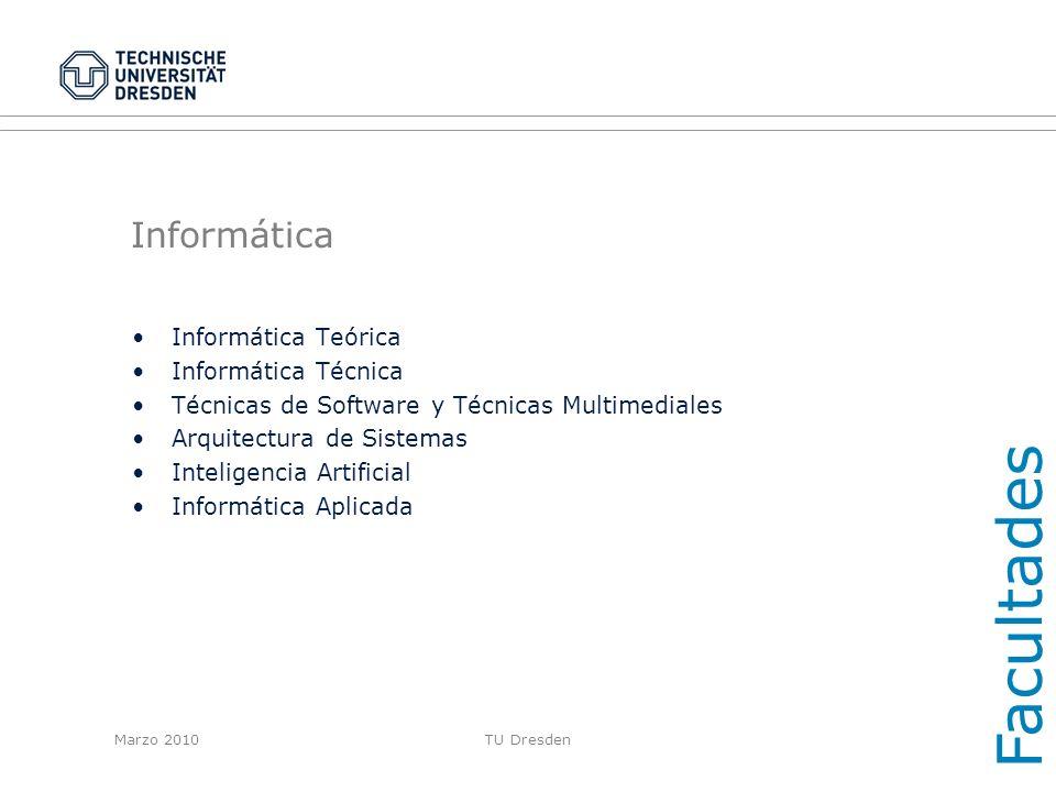 Facultades Informática Informática Teórica Informática Técnica