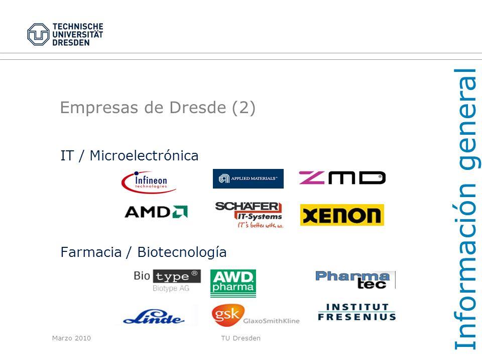 Información general Empresas de Dresde (2) IT / Microelectrónica