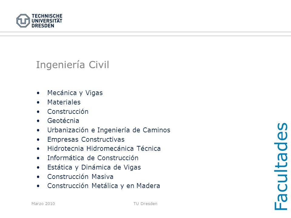 Facultades Ingeniería Civil Mecánica y Vigas Materiales Construcción