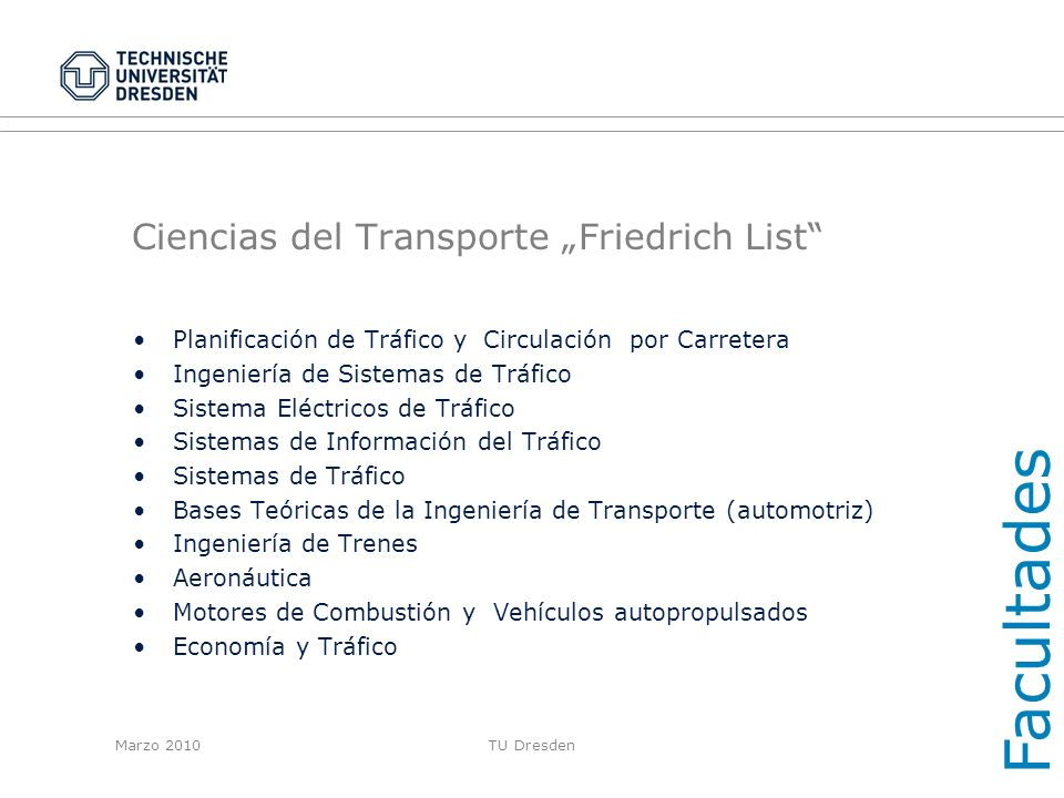 "Ciencias del Transporte ""Friedrich List"