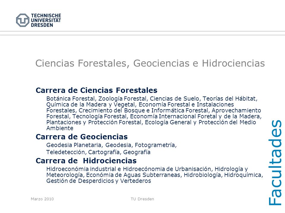 Ciencias Forestales, Geociencias e Hidrociencias