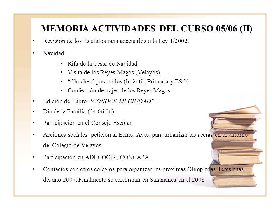 MEMORIA ACTIVIDADES DEL CURSO 05/06 (II)
