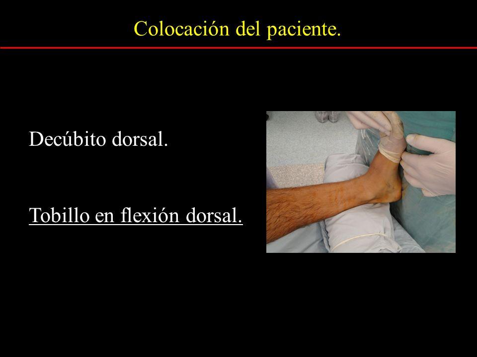 Colocación del paciente.
