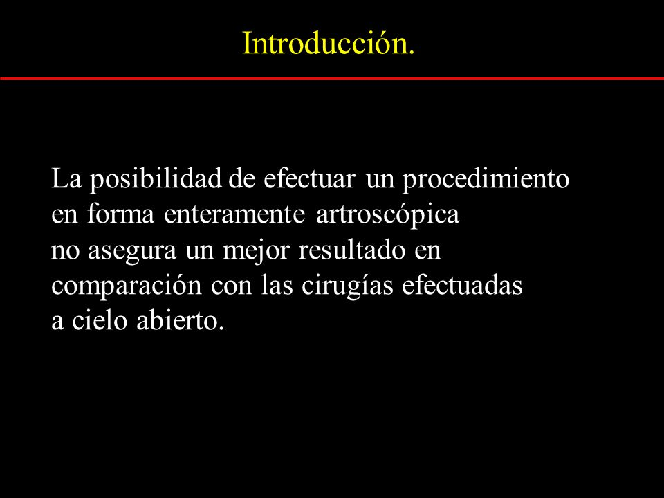 Introducción. La posibilidad de efectuar un procedimiento