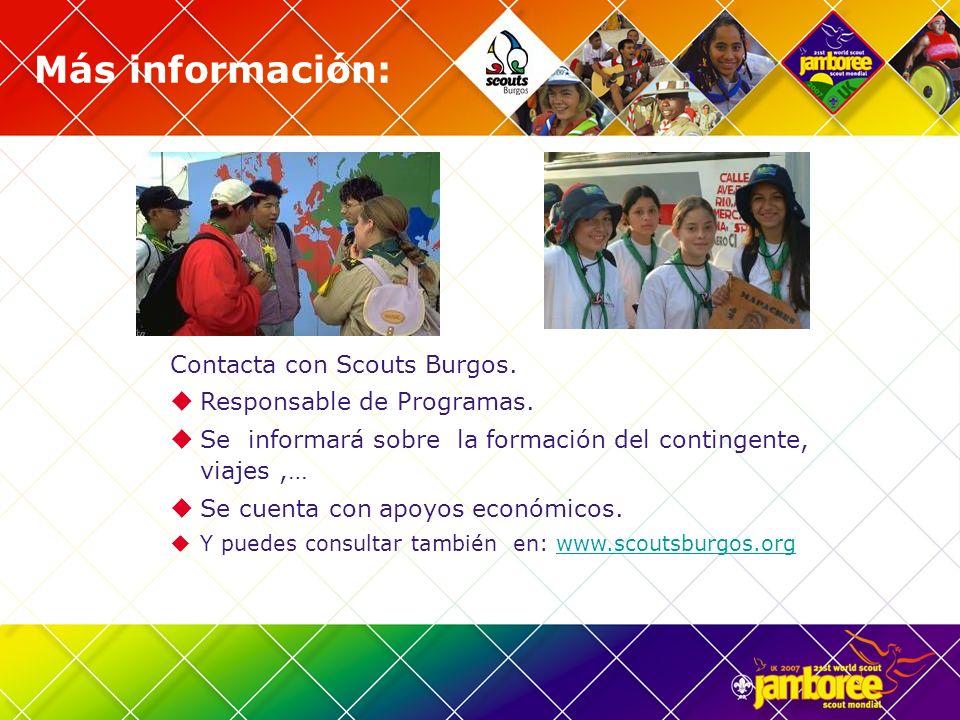 Más información: Contacta con Scouts Burgos. Responsable de Programas.