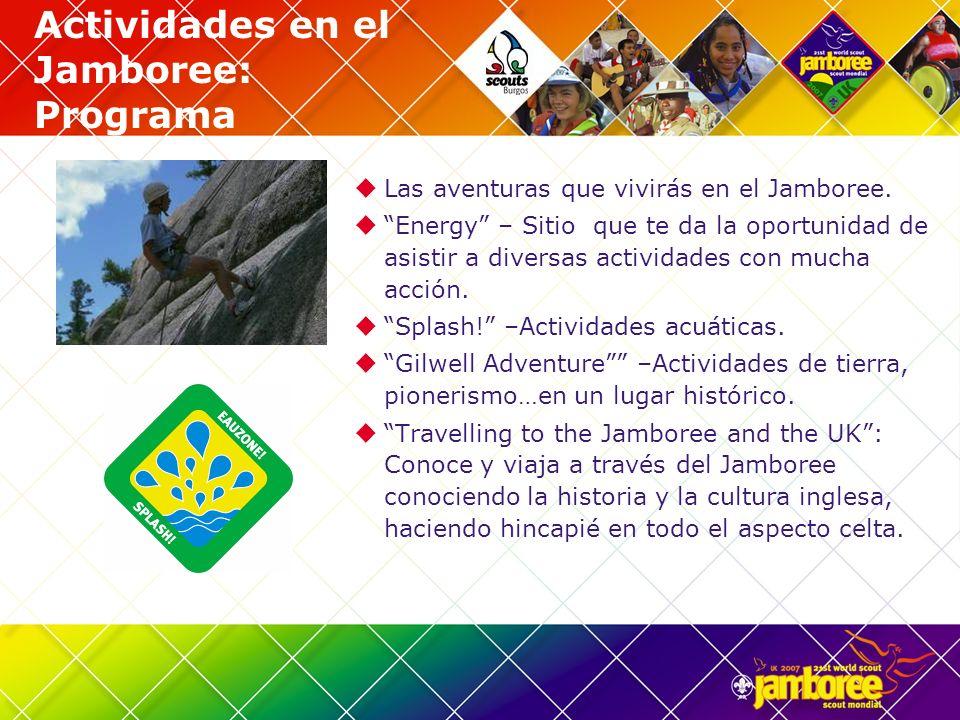 Actividades en el Jamboree: Programa