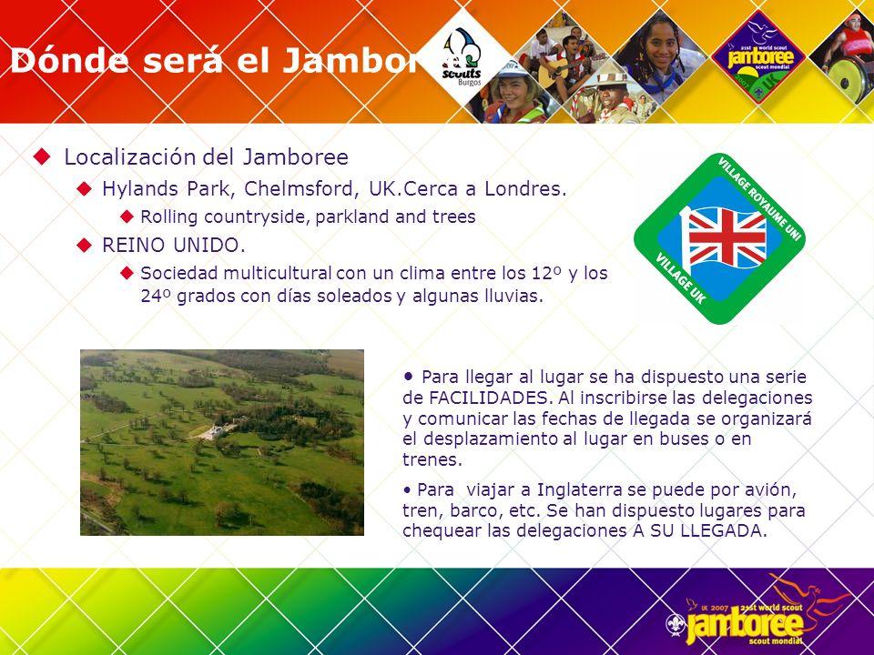 Dónde será el Jamboree Localización del Jamboree