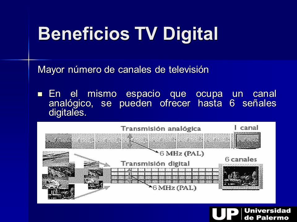 Beneficios TV Digital Mayor número de canales de televisión