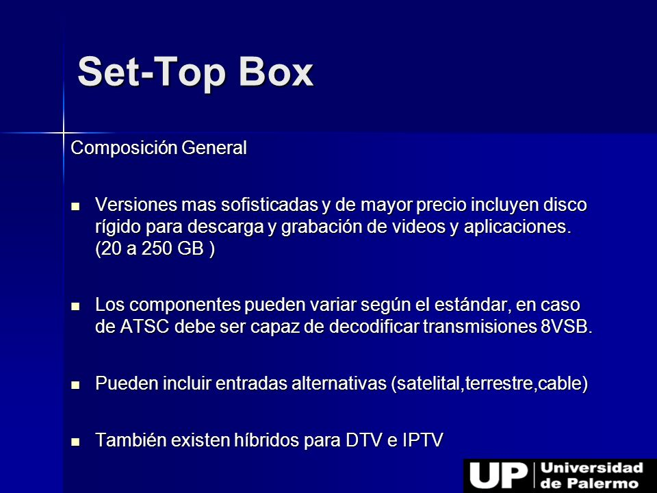 Set-Top Box Composición General