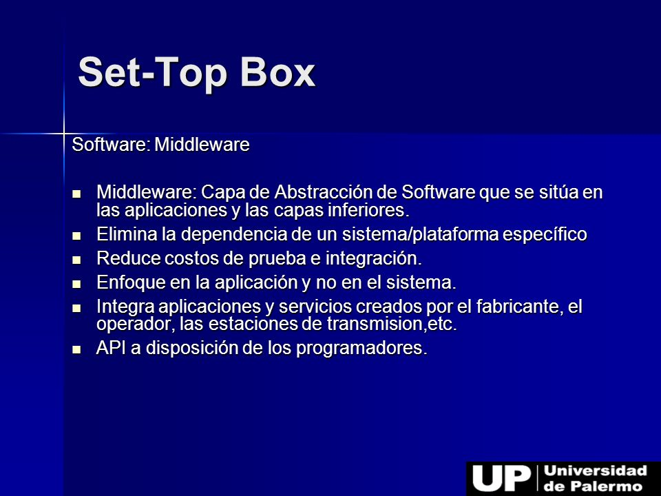Set-Top Box Software: Middleware