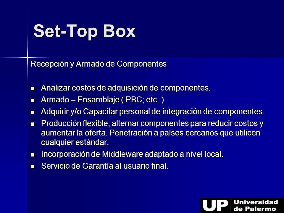 Set-Top Box Recepción y Armado de Componentes