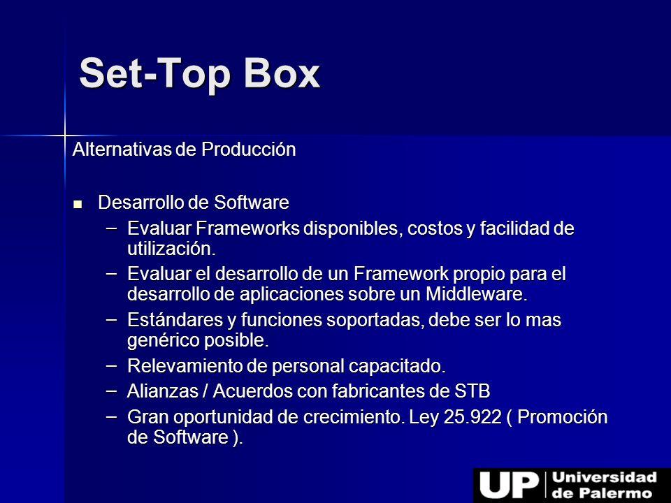 Set-Top Box Alternativas de Producción Desarrollo de Software